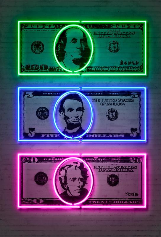 Dollars Aluminium Print