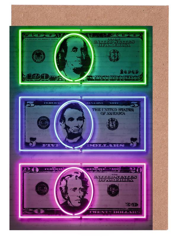 Dollars -Grußkarten-Set