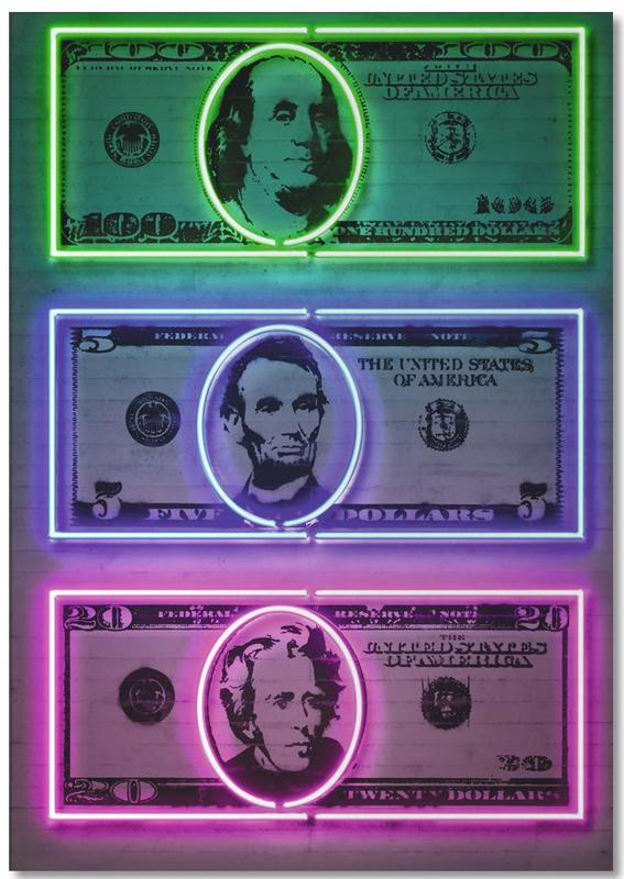 Dollars -Notizblock