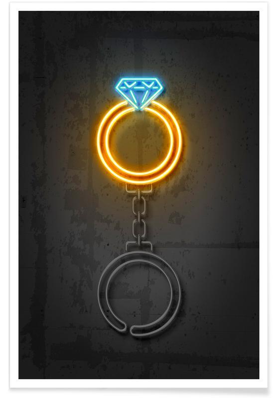 Trouwen en bruiloften, Diamond Ring poster