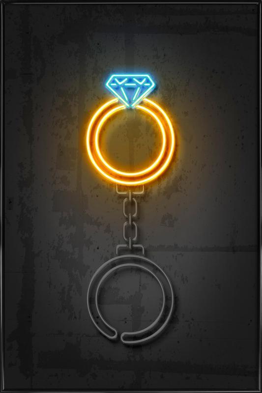 Diamond Ring Framed Poster