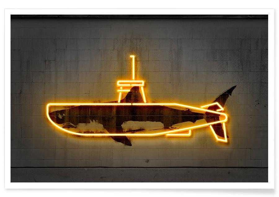 Boats, Pop Art, Yellow Submarine Poster