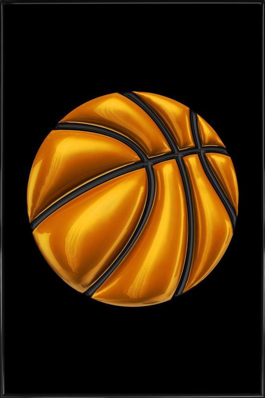 Basketball ingelijste poster