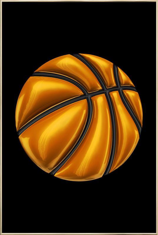 Basketball -Poster im Alurahmen