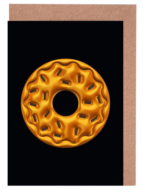, Donut -Grußkarten-Set