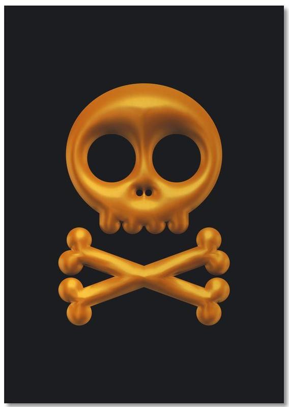 Totenköpfe, Skull -Notizblock