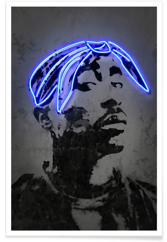 Street art, Pop art, Tupac Plakat