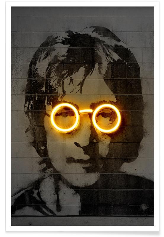 The Beatles, Street Art, Pop Art, John affiche
