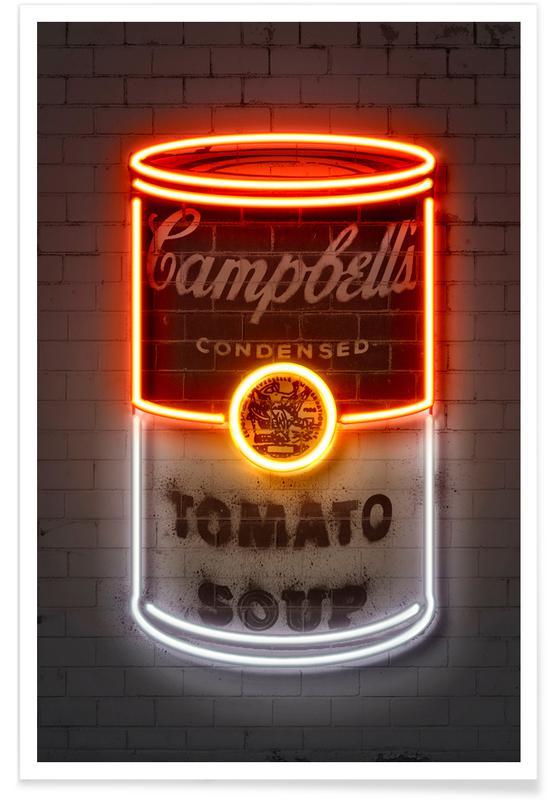 Street Art, Pop Art, Soup Can -Poster