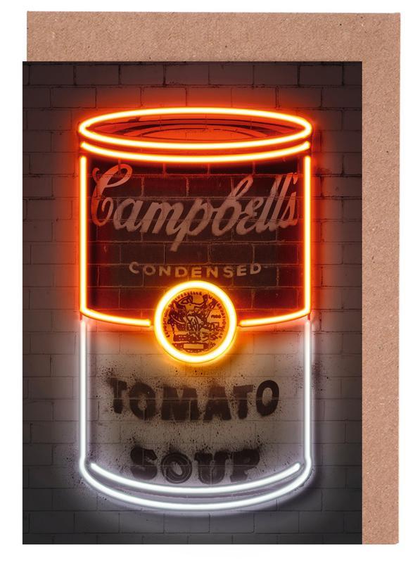 Street Art, Pop Art, Soup Can cartes de vœux