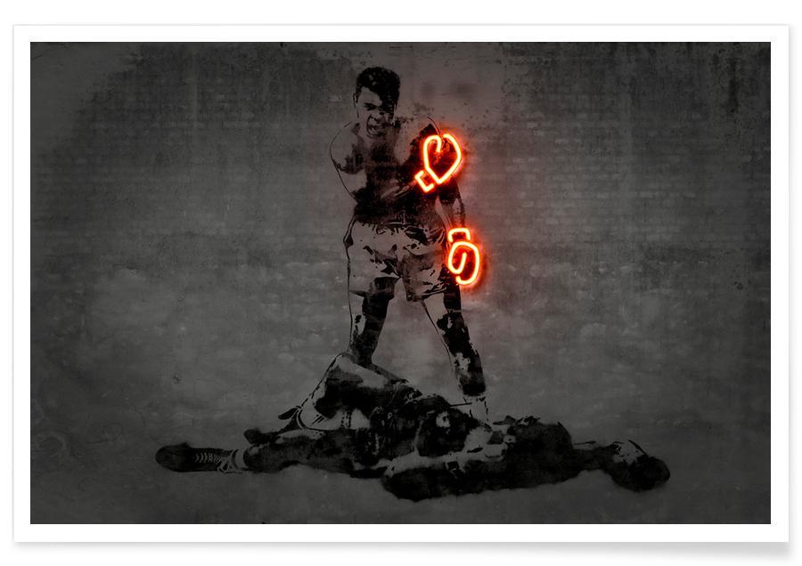 Street Art, Pop Art, Ali néon affiche
