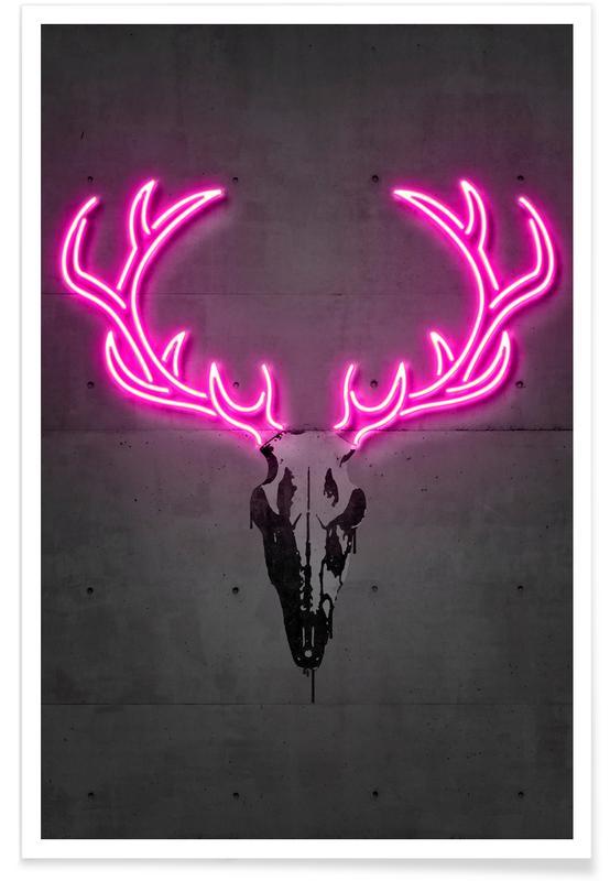 Herten, Deer Skull poster