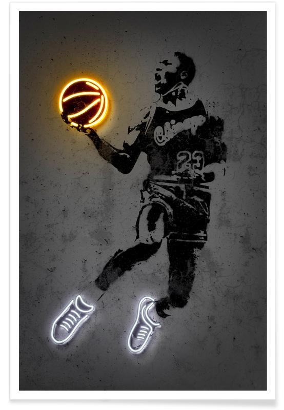 Korgboll, Michael Jordan 23 Poster