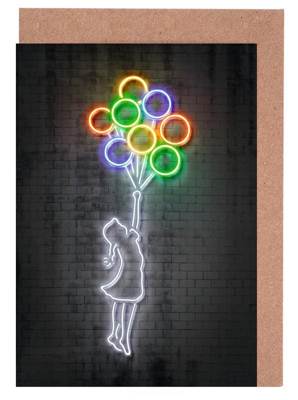 Humour, Pop Art, Street Art, Flying Balloons cartes de vœux