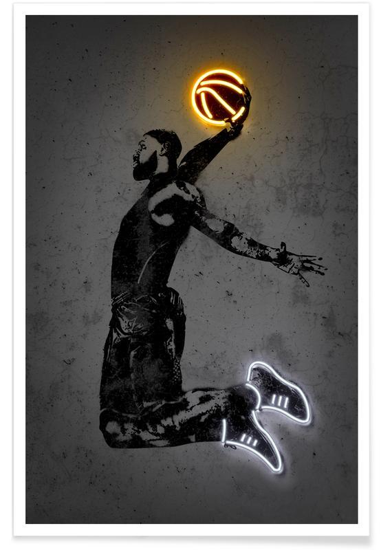 Basketball, Lebron James Plakat