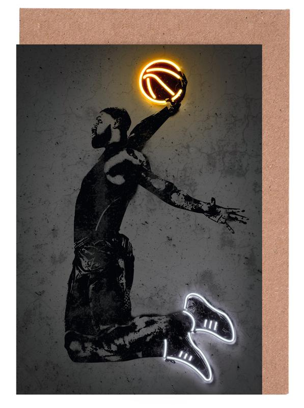 Basketball, James Greeting Card Set