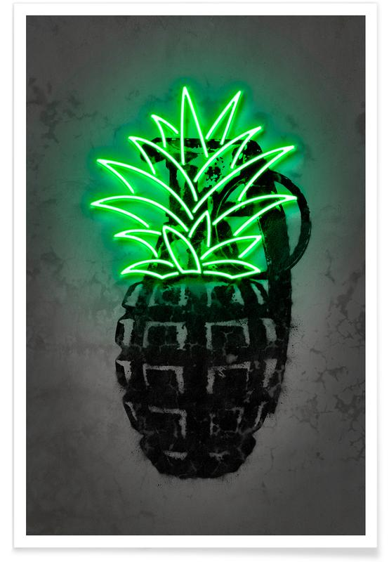 Ananas, Pineapple Poster