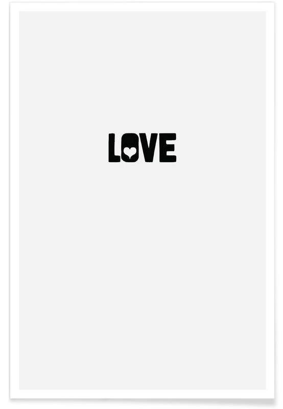 Sort & hvidt, Love Plakat