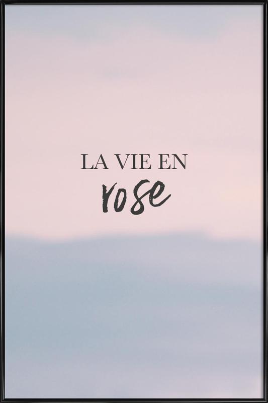 La Vie En Rose Poster i standardram