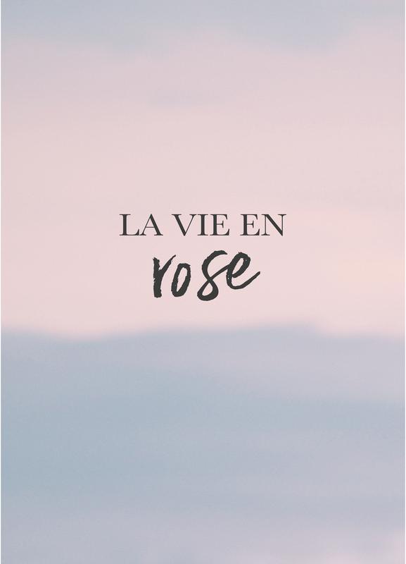 La Vie En Rose Canvastavla