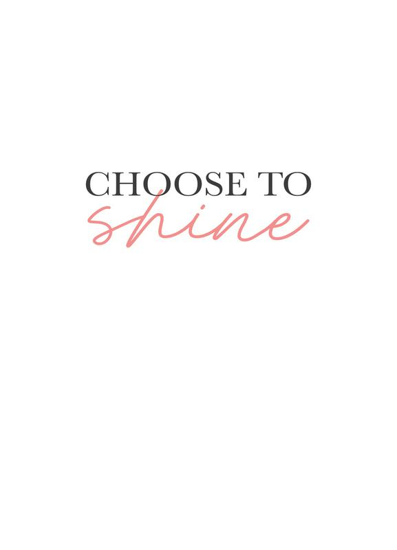 Choose To Shine Canvas Print