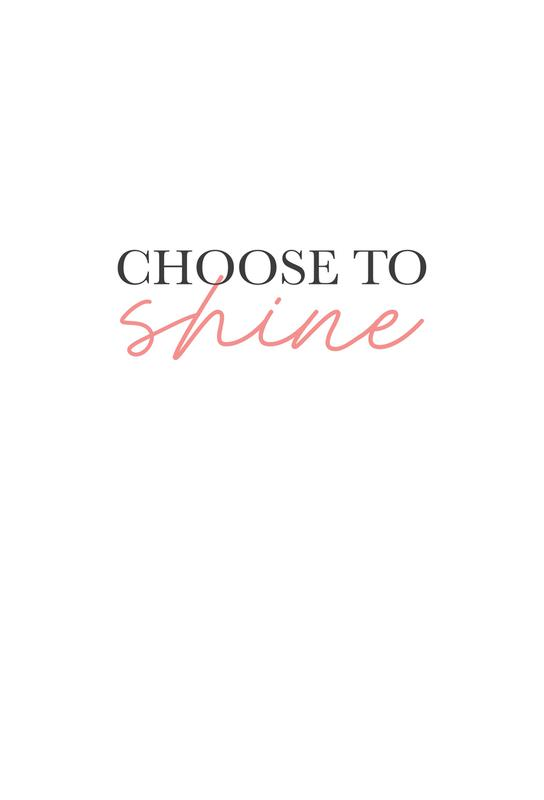 Choose To Shine Impression sur alu-Dibond