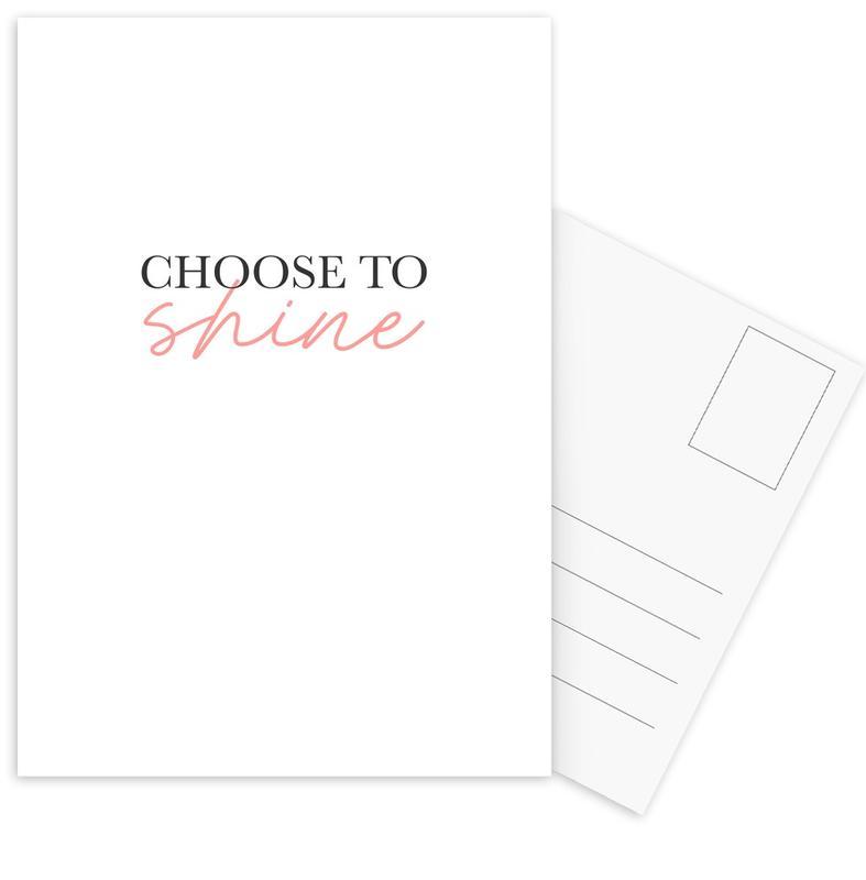 Choose To Shine -Postkartenset