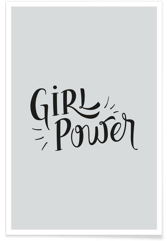 Motiverende, Citater & sloganer, Girl Power Plakat