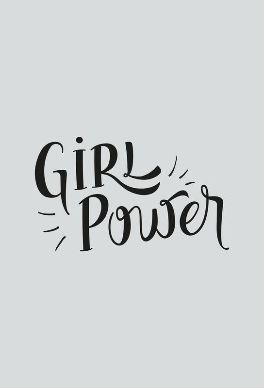 Girl Power Aluminium Print