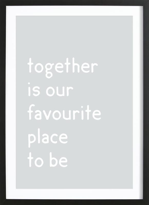 Together Poster i träram