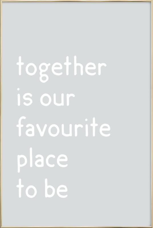Together Poster i aluminiumram