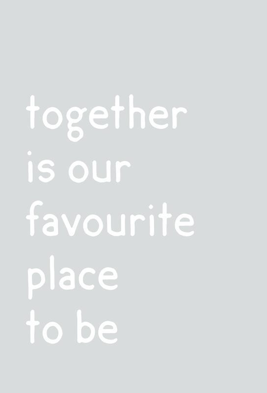 Together Aluminiumtavla