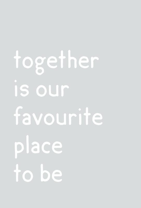 Together Impression sur alu-Dibond