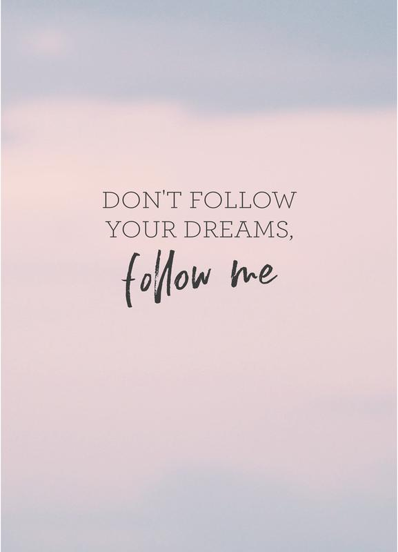 #Follow toile
