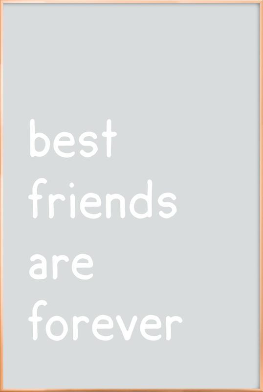 Friendship affiche sous cadre en aluminium