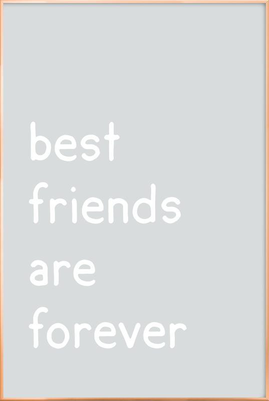 Friendship -Poster im Alurahmen