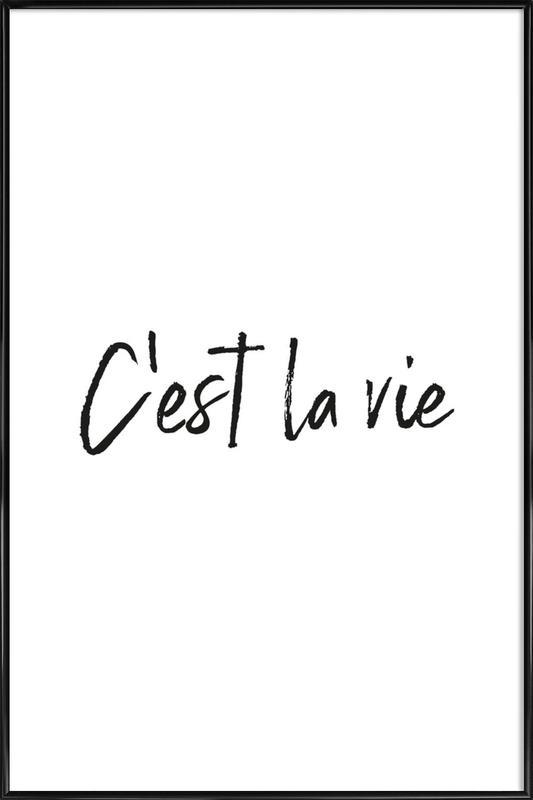 C'est La Vie -Bild mit Kunststoffrahmen