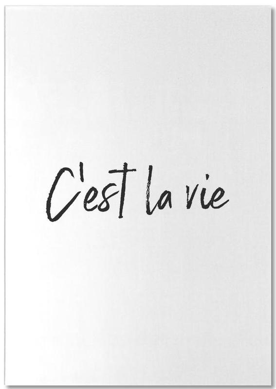 Black & White, Quotes & Slogans, Motivational, C'est La Vie Notepad