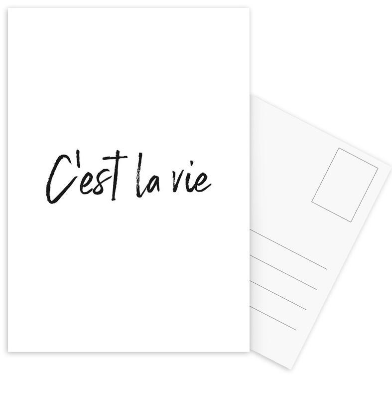 C'est La Vie -Postkartenset