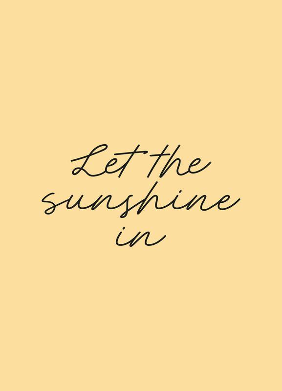 Let The Sunshine In canvas doek