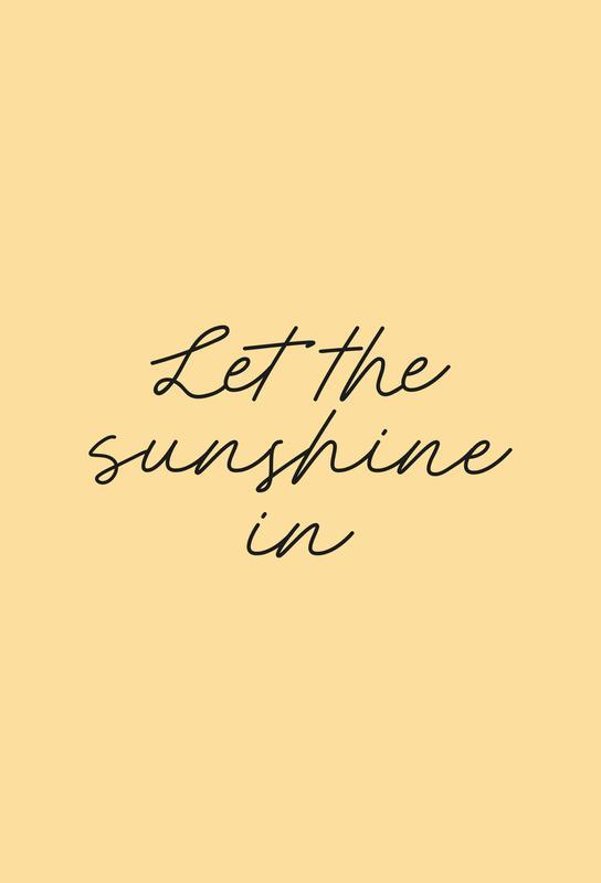 Let The Sunshine In -Acrylglasbild