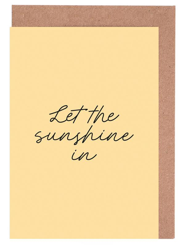 Let The Sunshine In Greeting Card Set