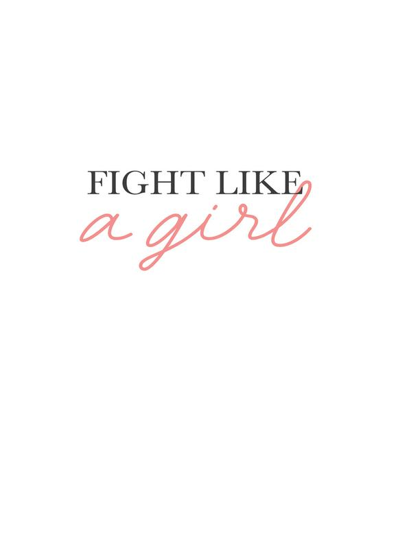 Fight Like A Girl toile