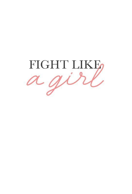 Fight Like A Girl tableau en verre
