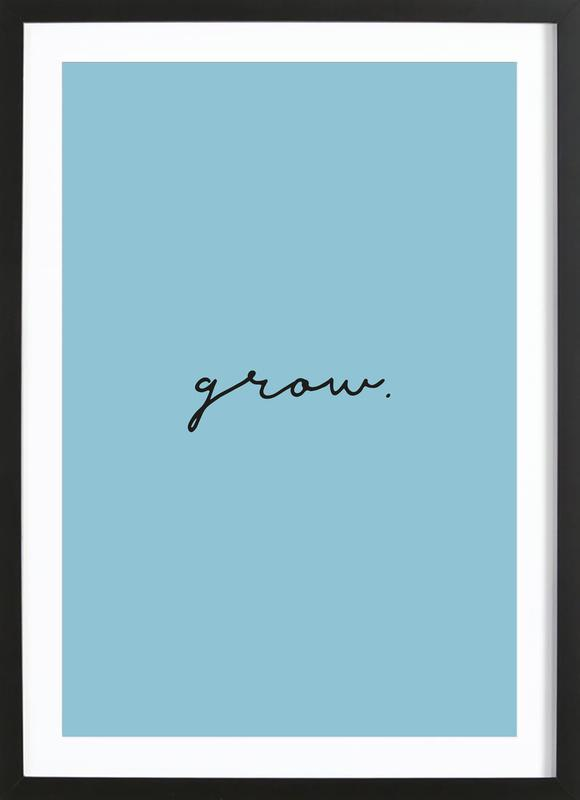 Grow -Bild mit Holzrahmen