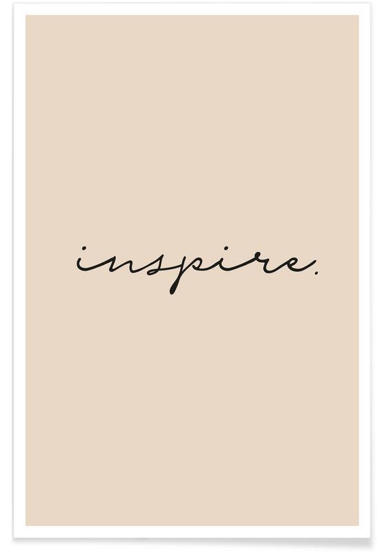 Citations et slogans, Motivation, Typographie - Inspire affiche
