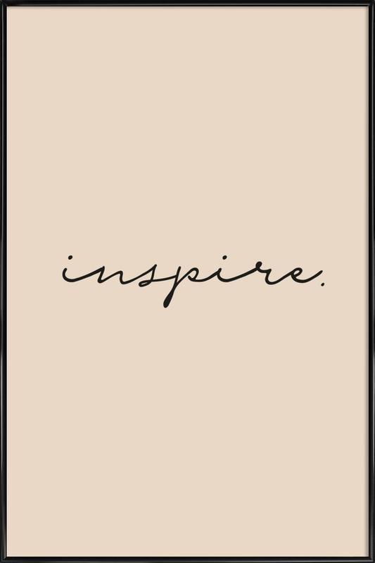 Inspire -Bild mit Kunststoffrahmen