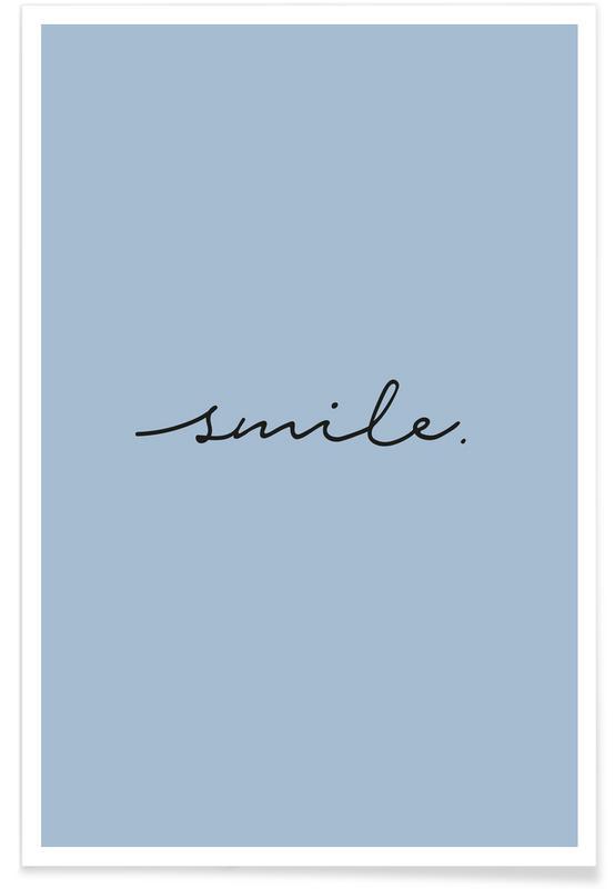 Motiverende, Citater & sloganer, Smile Plakat