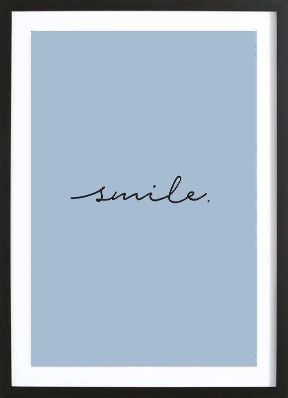 Smile ingelijste print