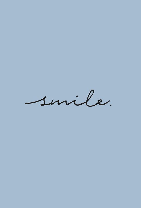 Smile -Acrylglasbild